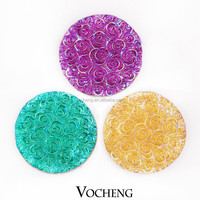 Wholesale 20PCS/Lot Popper Jewelry Vocheng 18mm 6 Colors Acrylic Custom Snap Button (Vn-710*20) Free Shipping