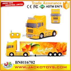 1:38 4 channels RC container truck RC tractor with light