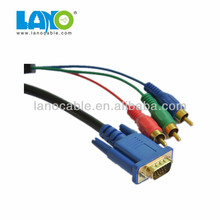 New! Custom pin out vga rca adapter cable male to male