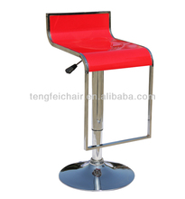 Swivel ABS bar stool with chroming base/360 degree swivel and height adjust/all color for you to chose