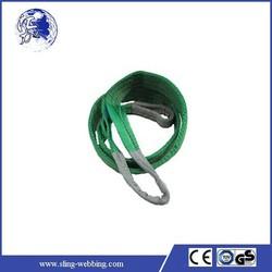 Heavy duty eye&eye green 60mm 2T flat webbing sling