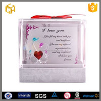 Square curved line sample style valentines metal cheap gift