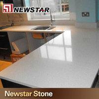 Polished Chinese white sparkle quartz stone countertop