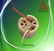 E26 porcelain lamp socket with wire E26 Ceramic lamp cap