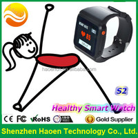 2015 Best Seller Smart Wrist Heart Rate Monitor Sport Watch With Pedometer Blood Glucose monitor GPS Android GSM Watch Phone