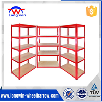 Heavy duty 5 tier metal shelving unit warehouse storage shelving unit for sale