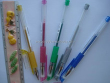 Hot sales rainbow color glitter gel pen for promotion