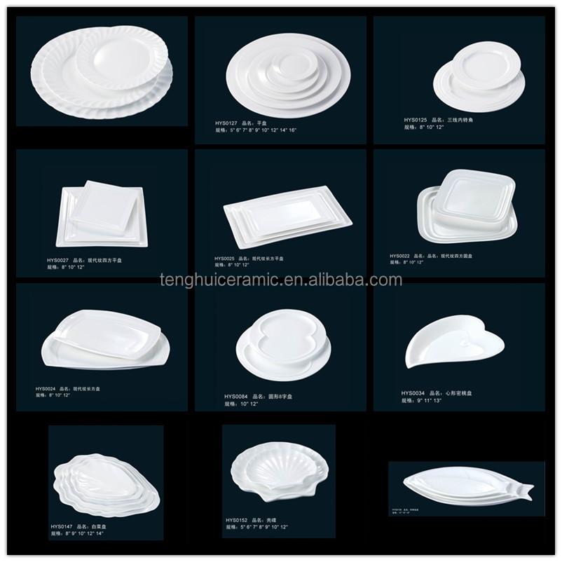 forme ovale plat de vaisselle en c ramique porcelaine type de couleur blanche plaque ovale en. Black Bedroom Furniture Sets. Home Design Ideas