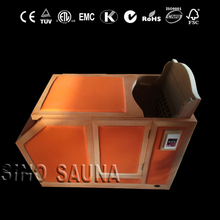Portable freestanding steam sauna room with colurful leather surface and digital LED controller