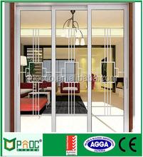 Big handle good sealing glass door inserts blinds aluminium glass sliding door aluminium door and window PNOC0048SD