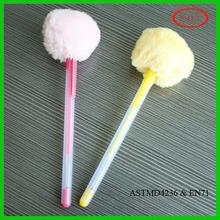 Promotional Scented Glitter Gel Pen with Pom-Pom