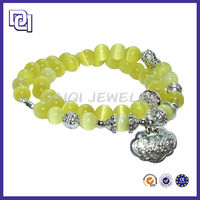 DOUBLE LAYER GOLD BEAD BRACELET FOR GIRLS,CHINESE BRACELET FOR LUCK,FLORESCENT BRACELET FOR HEALTH
