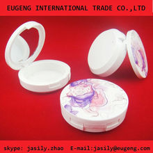 Beautiful plastic custom compact powder case supplier