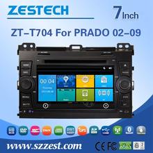 touch screen car dvd gps for prado car multimedia player for Toyota PRADO 2002-2009 with radio RDS BT ATV 3G