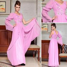 Dropshipping dorisqueen wholesaleplus tamaño de baile rosa/cóctel de larga de color rosa arábica vestidos de graduación