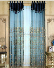 2015 popular good quality hotel sheer curtain/voile curtain