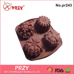 silicone flower design soap tray / handmade soap tray molds