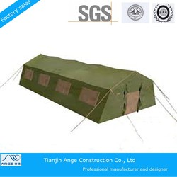 Waterproof Army Green PVC aluminum frame camping tents, customized camping tent