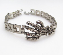 The new alloy men's bracelet Palm style care bracelet Europe and the United States foreign trade bracelet