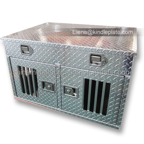 Diamond Plate Dog Kennels