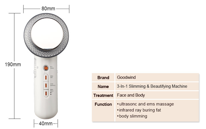 3 in 1 slimming and beautifying machine instructions