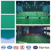 mute noise badminton court green color pvc flooring NTPF-Z007
