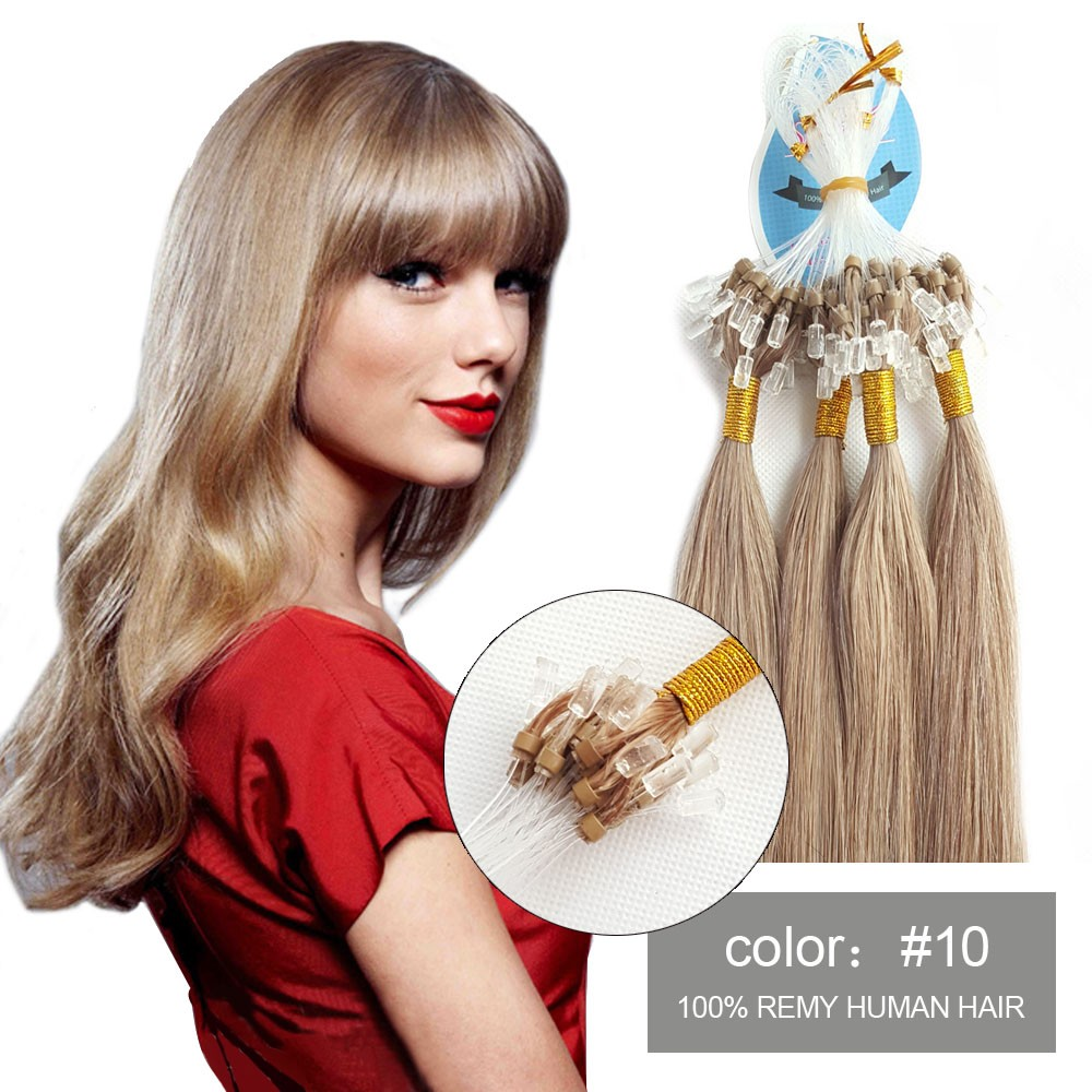 Full Cuticle Human Hair Extensions Fusion Type Light Brown Malaysian