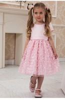 2015 children evening dresses girls gown ball puffy dress fancy children gowns balls