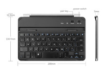 protective silver aluminum bluetooth keyboard and case for ipad mini 1/2/3