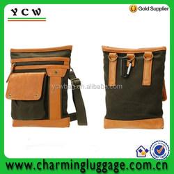 Elegant canvas travel mini waist bag for ipad
