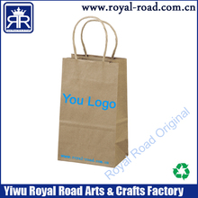Yiwu manufacturer custom cheap price and good quality Brown Paper Bag With Recycled Paper