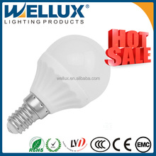 2015 Deqing low heat no uv high power CE 12V 4W E14 led bulb
