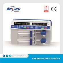 Advanced CE approved portable double channels syringe infusion pump