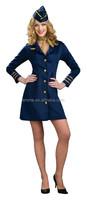 Ladies sexy Air Hostess uniform Virgin Cabin Crew Fancy Dress Costume BW3043
