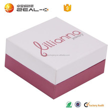 durable and popular in Europe luxury customized white and pink color logo printing CMYK Jewelry gift package box