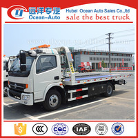 Dongfeng new RHD 4Ton flatbed tow truck for sale