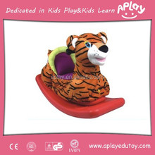 Fashion Design Winter Use Soft Toy Tiger Rocking Horse Crafts for School Items AP-RH0053