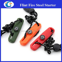 Military Survival Kit with Fire Starter Compass Whistle and Rope