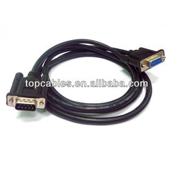 factory direct 9 pin vga cable,SVGA &VGA Cable DB9 Male to female Monitor Video cable -Black