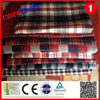 Eco-friendly breathable 100 cotton yarn dyed woven fabric factory