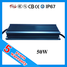 5 years warranty CE RoHS TUV SAA UL approved waterproof IP67 ac 85-265V 50W LED driver