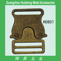 Metal made decorative release buckle side release buckle quick release buckle