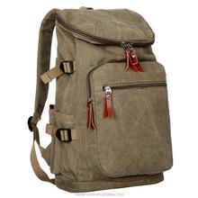 Vintage men canvas leather travel bag luggage bag