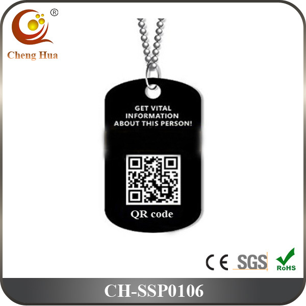 New design qr code stainless steel dog tag pendant buy for Qr code dog tag