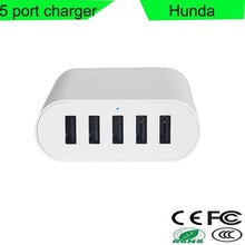 cell phone accessories smart desktop wall multi charger phone for travel 5-port
