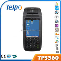 TPS360 wireless handheld windows ce wince mobile pos terminal ,windows pos with bulit in thermal printer and fingerprin