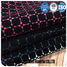 wholesale Woven backing faux pu leather for sofa upholstery fabric and home decoration usage