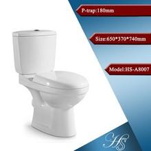 Hs-a8007 proyecto de construcción de cerámica de dos piezas de baño en cuclillas instalación
