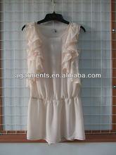 señoras verano sin mangas y pétalos de flores blusa elegante