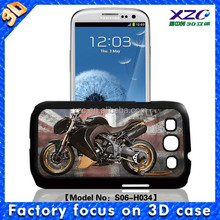 High quality wholesale 3D cell phone case for Samsung i9300 with 3D motorbike